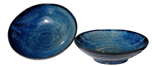 Japanese Moon Shimmer bowls 17.0 cm X2